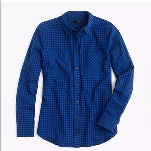 J. Crew Boy Shirt in Mini Buffalo Check EUC